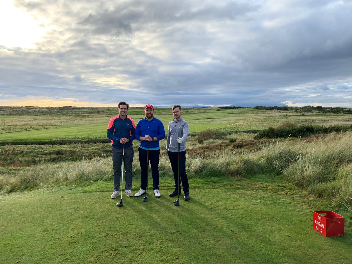 CRGP Team on Prestiwick Golf Course taking part in the Mental Health Golf Competition