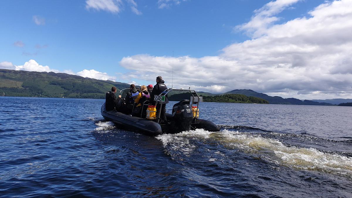 CRGP Team on a RHIB Speedboat
